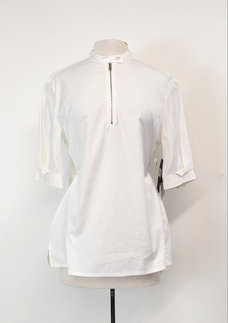 SportMax White Cotton Blouse Size Large (14)