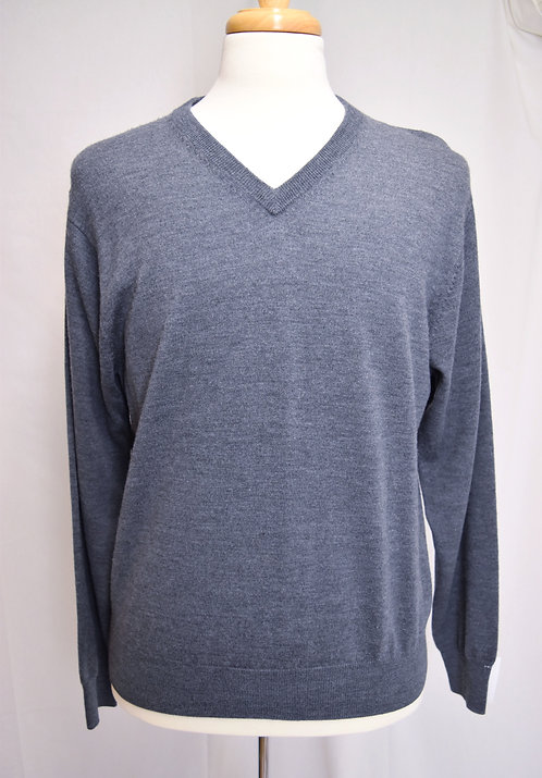 Peter Millar Gray V-Neck Sweater Size Medium