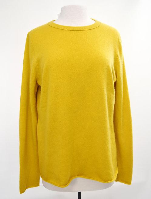 J. Crew Yellow Cashmere Sweater Size XL