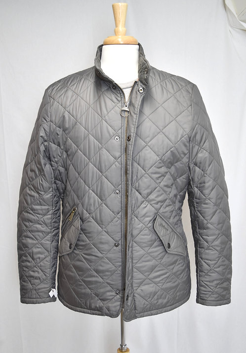 Barbour Gray Quilted Jacket Size Medium