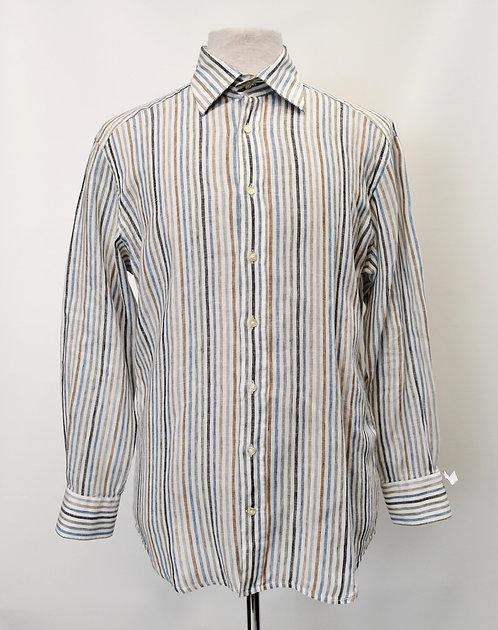 Etro Stripe Linen Shirt Size Large