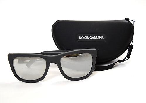 Dolce & Gabbana Gray Wayfarer Sunglasses