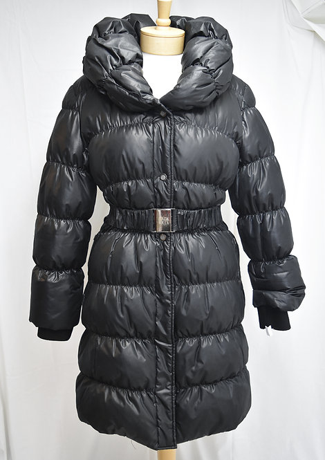 Cinzia Rocca Black Quilted Puffer Coat Size 8