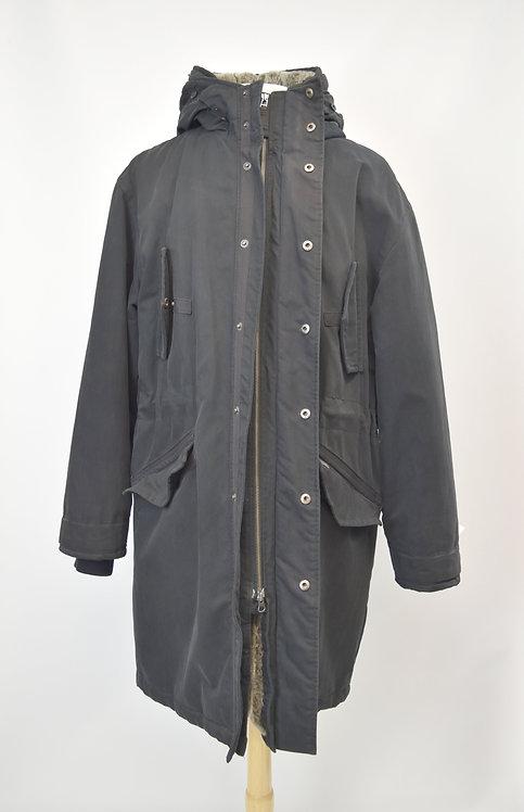 Ted Baker Black Long Coat Size XL