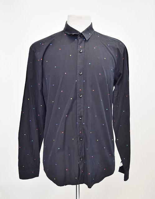 Jared Navy Print Shirt Size Large