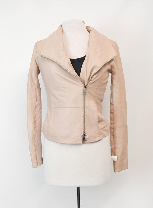 Vince Blush Pink Leather Jacket Size XS