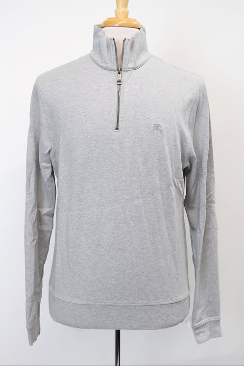 Burberry Gray Quarter-Zip Sweater Size Large