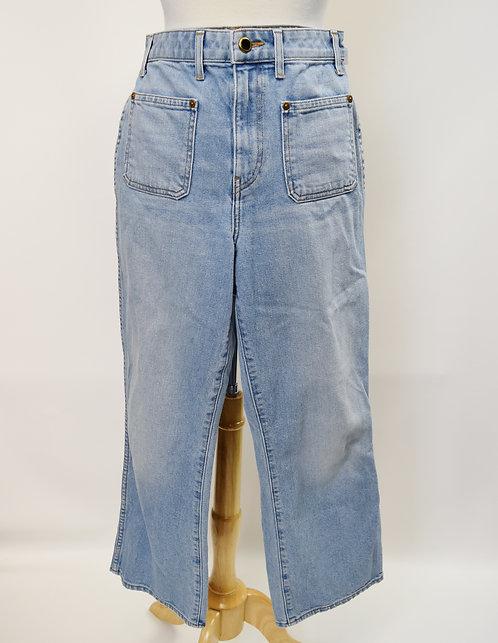 Khaite Light Wash Wide Leg Jeans Size 28