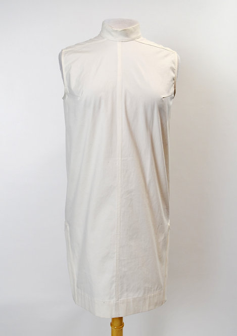 "Rick Owens ""Milk"" Cotton Mini Dress Size 6"