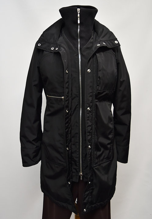 PostCard Black Puffer Coat Size Small