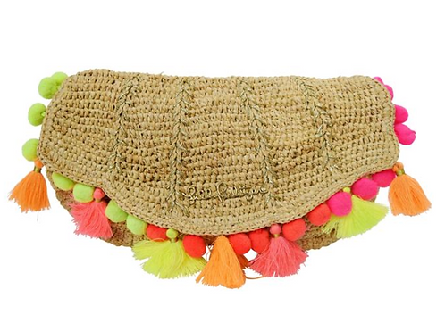 "Lilly Pulitzer Woven ""Clam Shell Clutch"""