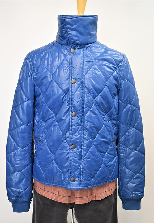 Burberry Brit Blue Quilted Jacket Size Large