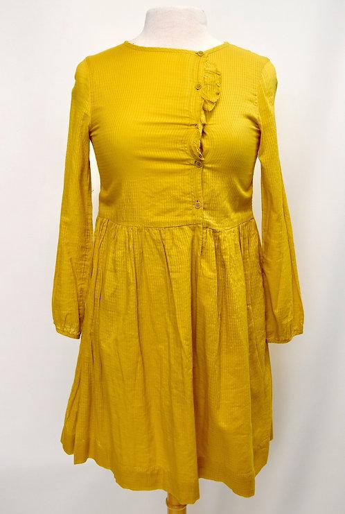 Burberry Golden Yellow Cotton Dress Size XS