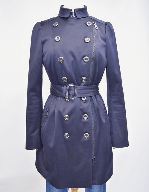 Burberry Navy Trench Coat Size 10