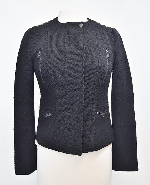 Vince Black Knit Zip-Up Jacket Size 4