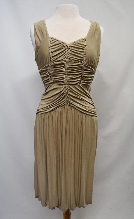 Burberry Beige Draped Dress Size Small