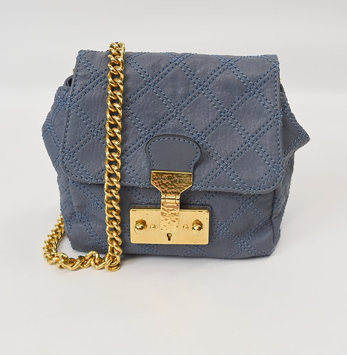 Marc Jacobs Blue Quilted Leather Crossbody