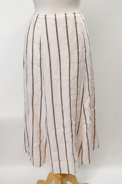 Theory White Stripe Skirt Size Small (6)