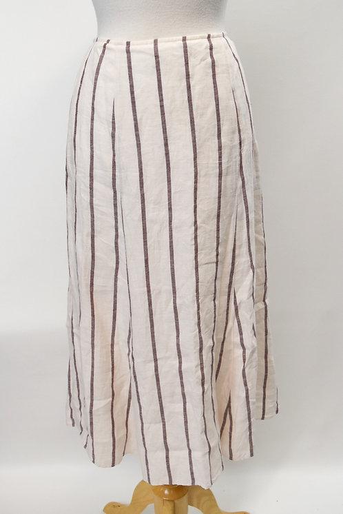 Theory White Stripe Skirt Size Small (6)