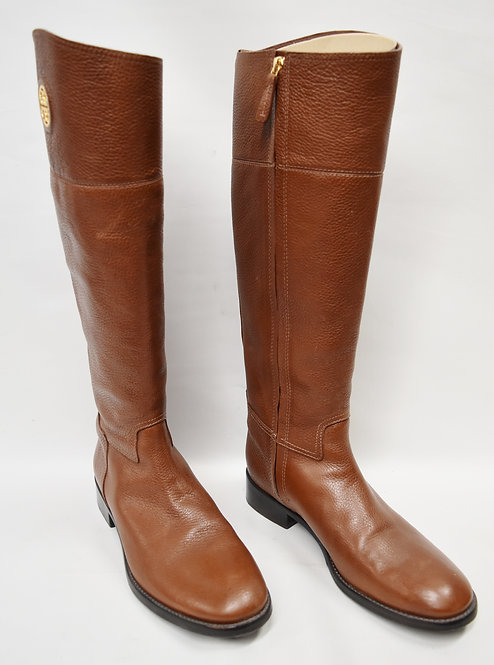 """Tory Burch Brown Leather """"Junction"""" Boots Size 9"""