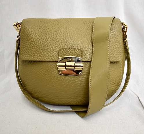 Furla Olive Green Leather Crossbody