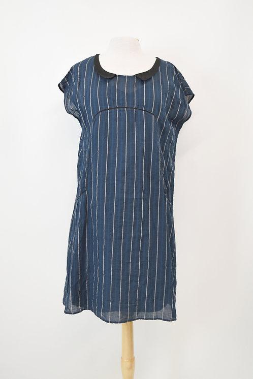 Cotelac Navy Stripe Dress Size Large
