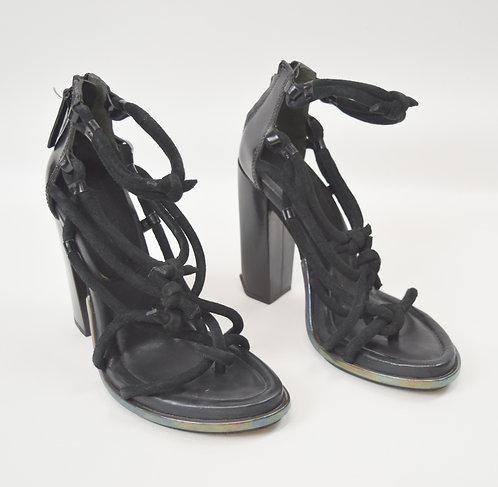 Alexander Wang Black Suede Strappy Heels Size 10