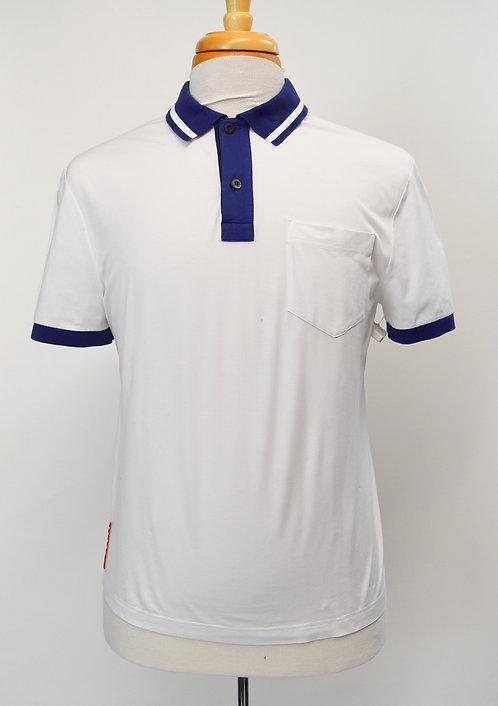 Prada White & Blue Polo Size Medium