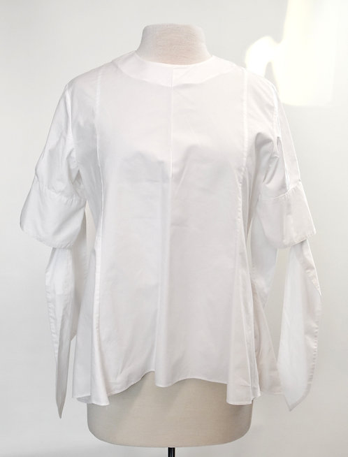 Fabiana Pigna White Cotton Blouse Size Medium