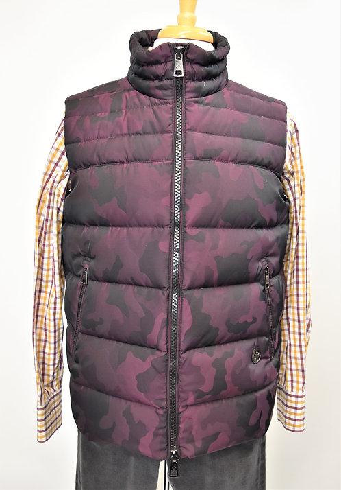 Jared Lang Purple Print Puffer Vest Size Large