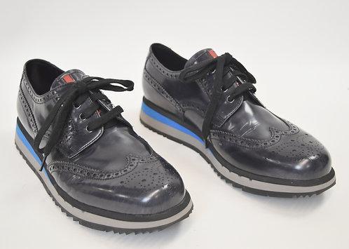 Prada Black Leather Shoes Size 10