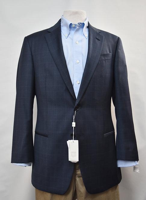 Armani Collezioni Navy Check Blazer Size 40R