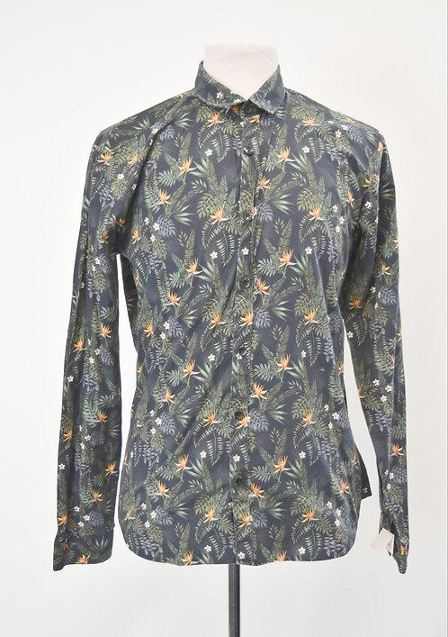Jared lang Black Print Shirt Size Large