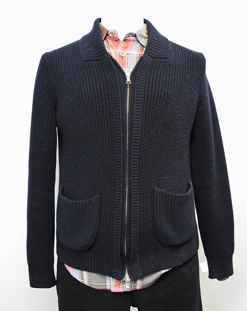 Vince Navy Zip-Up Cardigan Size Medium
