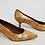 Thumbnail: Donald J Pliner Tan Cork Kitten Heels Size 7