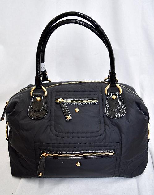 Tod's Black Nylon & Patent Leather Shoulder Bag