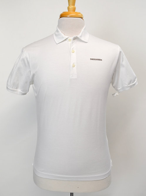 DSquared2 White Polo Size Large