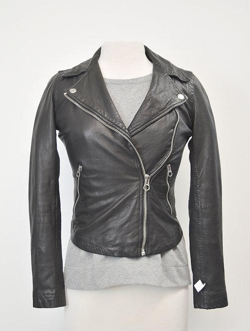 Madewell Black Leather Jacket Size XXS
