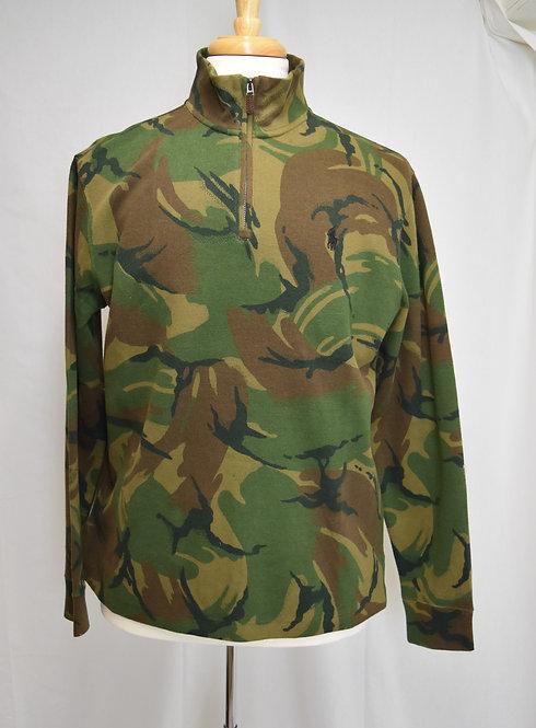 Ralph Lauren Green Camo Quarter-Zip Sweater Size Medium