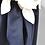 Thumbnail: Andrea Jiapei Li Navy & White Knotted Wool Dress Size Medium