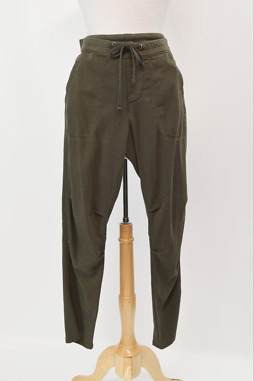 "James Perse Dark Green ""Mixed Media"" Pants Size Large"