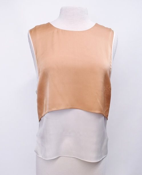 Veronica Beard Blush & Ivory Silk Top Size 6