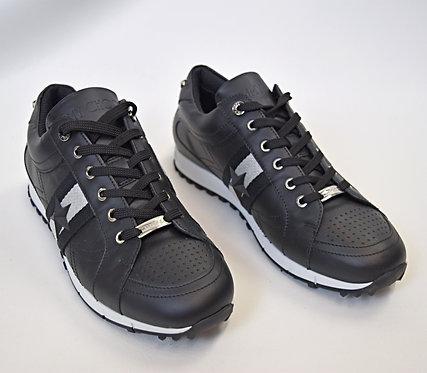 Jimmy Choo Black Leather Sneakers Size 10