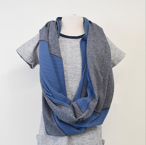 Lululemon Blue & Gray Vinyasa Scarf