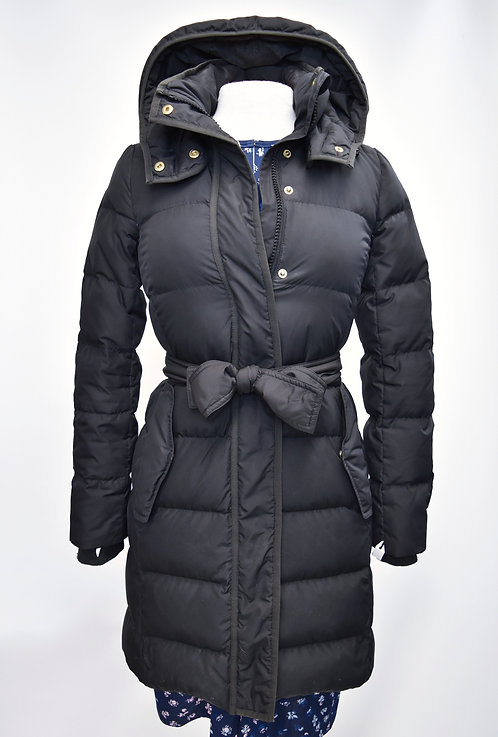 J. Crew Black Hooded Puffer Coat Size XS