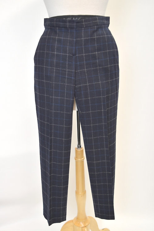 Theory Navy Wool-Blend Pants Size 0