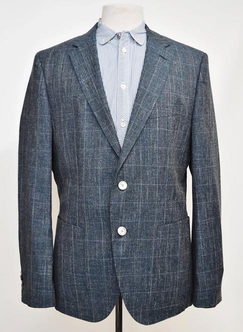 Hugo Boss Blue Tweed Blazer Size 42R