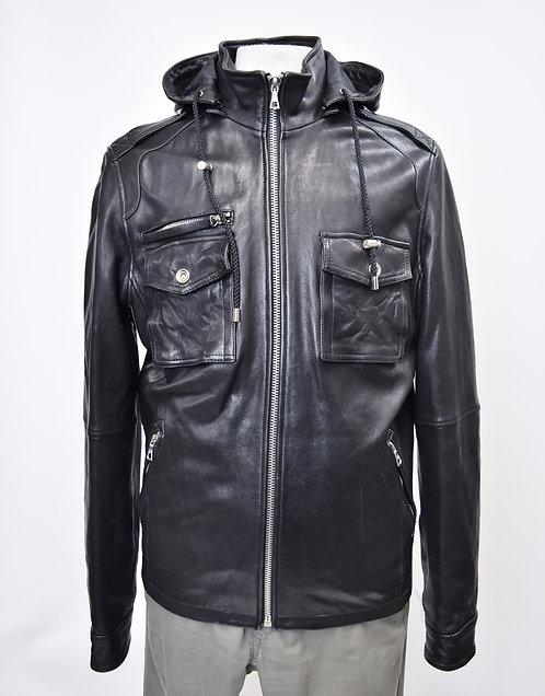 Rudsak Black Leather Jacket Size Medium