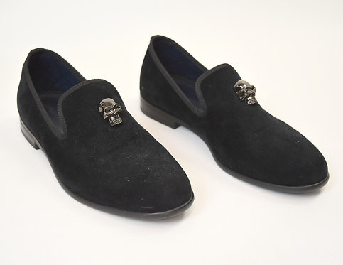 Duke & Dexter Black Suede Loafers Size 9