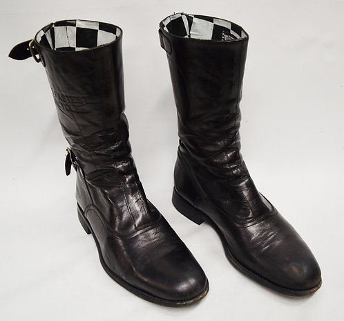 Triumph Paul Smith Black Leather Boots Size 8